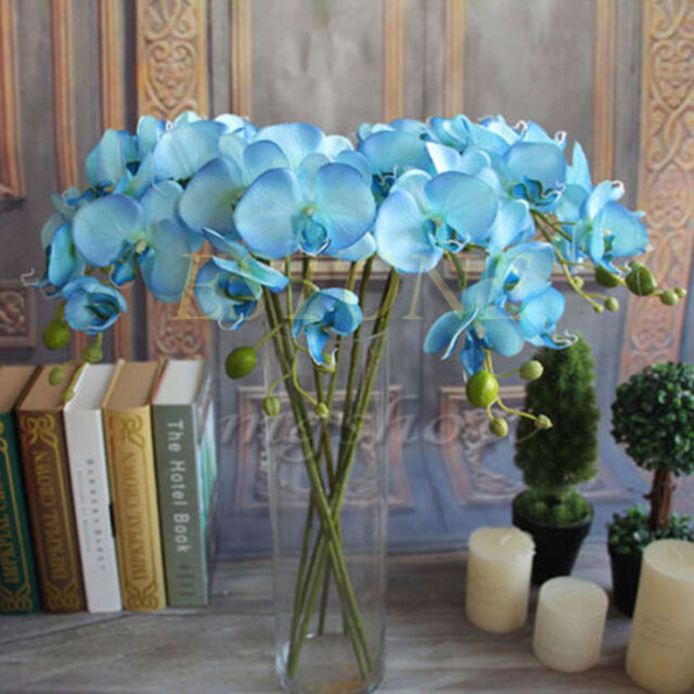 Artificial Butterfly Orchid Silk Flower Home Wedding Decor Phalaenopsis Bouquet