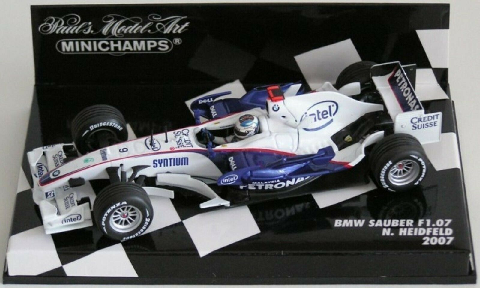 WOW EXTREMELY RARE BMW Sauber F1.07 Heidfeld 2nd Montreal 2007 1 43 Minichamps