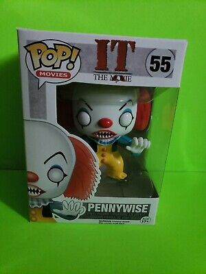 IT the Movie PENNYWISE Vinyl Figure #55 w// Protector Movies Funko Pop