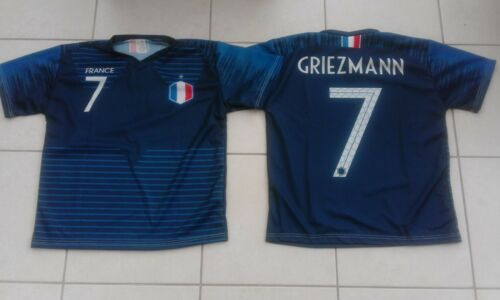 WORLD CUP FRANCE FOOTBALL TEE SHIRT NO 7 GRIEZMANN APPROX 8-10 YEARS