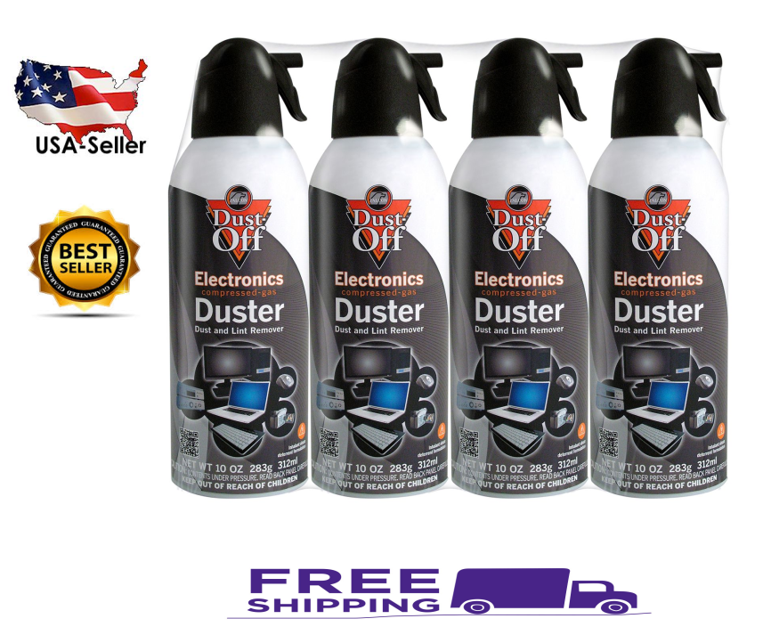 Falcon Dust-Off – Compressed Computer Gas Duster Canned Air, 10 oz – 4 Packs