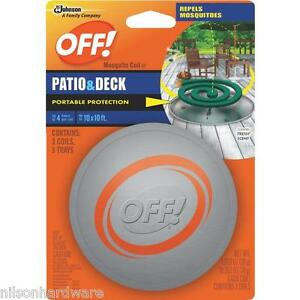 details about off mosquito outdoor repellent coil 3 pk 75204 6pk