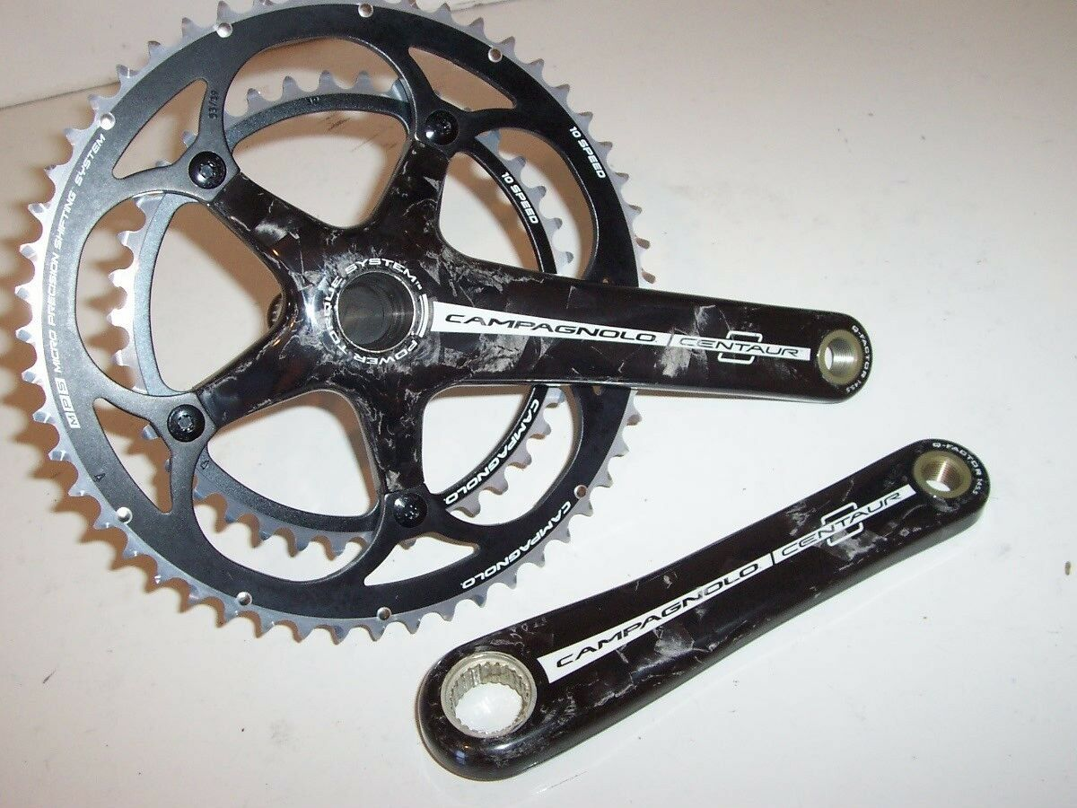 NEW - Campagnolo Centaur Carbon 10-Speed Crankset, 172.5mm, 53 39