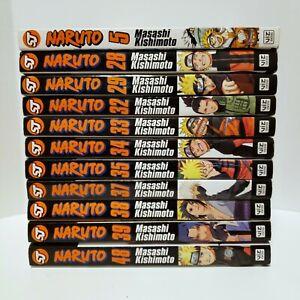 Naruto Manga Masashi Kishimoto Shonen Jump Anime Series Lot 11 English Books Set