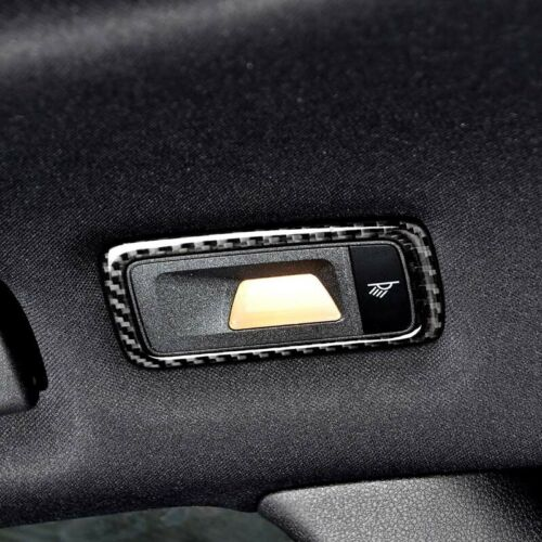 Real Carbon Fiber Rear Seat Reading Lamp Sticker Trim Fit For Porsche Macan