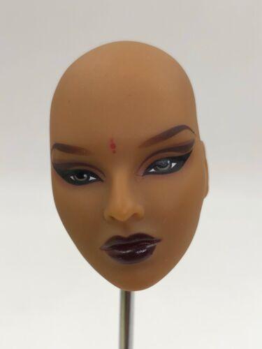 Fashion Royalty Integrity Doll Purple Pose Isha Head no eyelash no hair for ooak