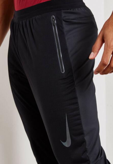 best quality los angeles best place Nike Shield Phenom Authentic Mens Running Pants Size Medium Aj6711 010 Black