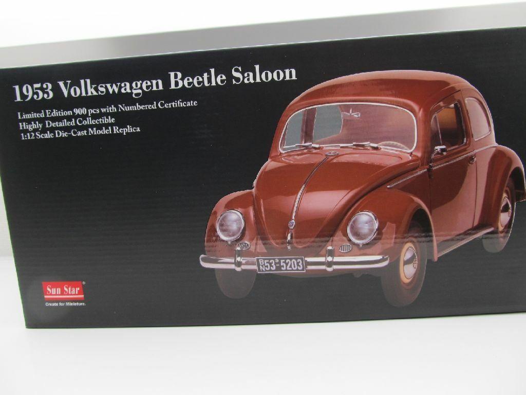 VW Beetle 1200 Pretzel Brown 1 12 SUNSTAR 1953 Volkswagen New 5203 Just 900 St