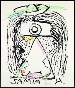 DDR-Kunst-Samia-Hussein-1990-Mischtechnik-Gerd-SONNTAG-1954-D-handsigniert
