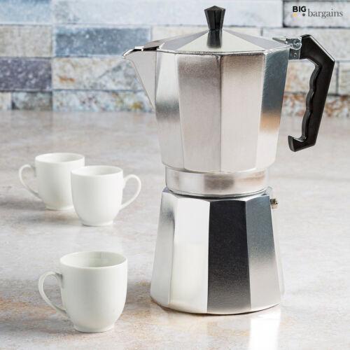 6 Cups Aluminium Coffee Maker Latte Maker Expresso Moka Pot Stove Top Easy Clean