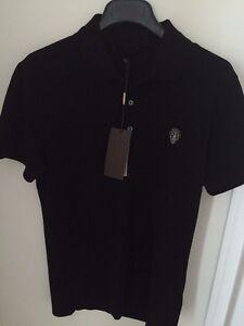 87014cdc GUCCI Mens black Original SLIM cotton POLO shirt NWT Authentic M | eBay