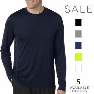 Hanes-Men-039-s-Cool-DRI-Performance-Long-Sleeve-T-Shirt-482L-S-3XL