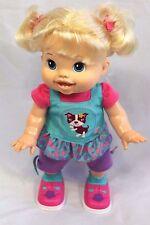 "Baby Alive Wanna Walk Doll  Blonde 2011 Hasbro Walking & Talking 14"" Doll Video"