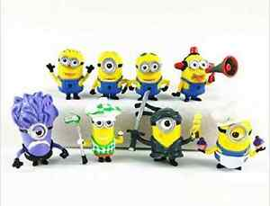 Despicable Me 2 Minion Figures 8pcs toy Cake Topper gift for kid eBay