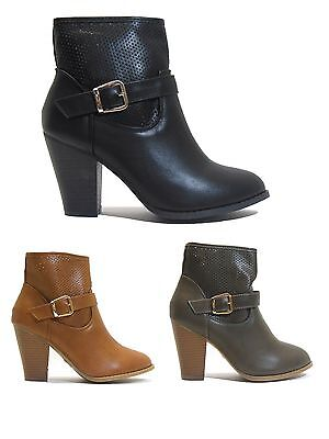 New Women's Booties Casual Fashion Heels by Forever Free Shipping