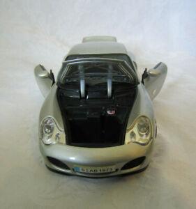Maisto-Porsche-911-carrera-Plata-1-18-Diecast-Modelo-Vehiculo-Coche