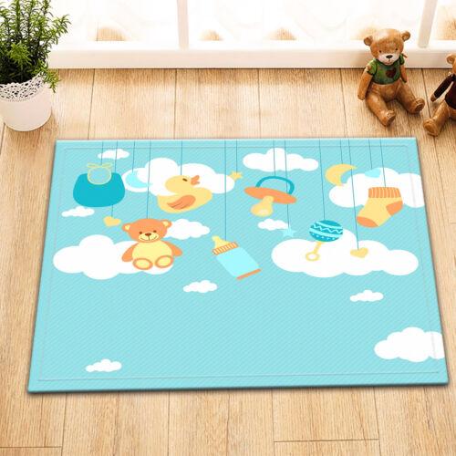Nonslip Bath Mat Yellow Duck Kids Toy Bathroom Home Floor Door Rug Shower Carpet
