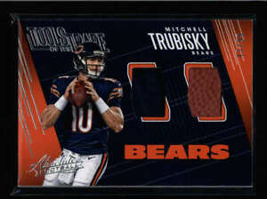 MITCHELL-TRUBISKY-2018-ABSOLUTE-DUAL-GAME-USED-BALL-JERSEY-COMBO-43-99-AX527