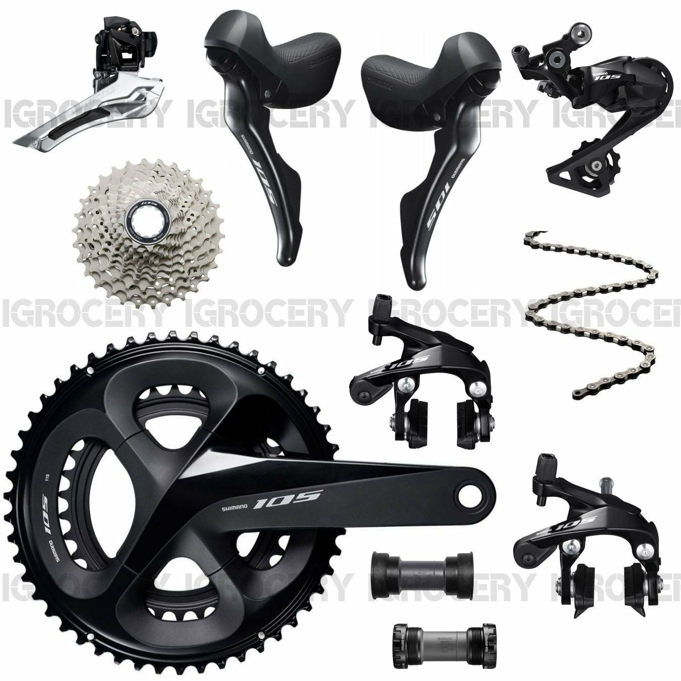 Shimano 105 R7000 Groupset 2x11-speed Road Bike 8Pcs Mechanical New (50 34T SS)