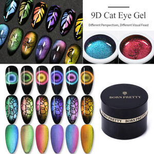 BORN-PRETTY-5ml-Bunter-9D-Cat-Eye-Magnetischer-Gel-Nagellack-Soak-Off-Gel-Lack