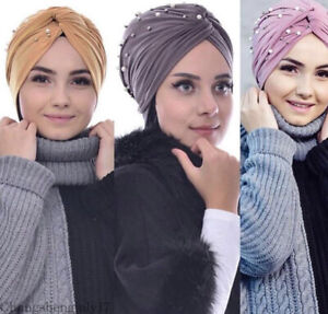 New-Muslim-Turban-Head-Wrap-Women-India-Ruffle-Hat-Beanie-Scarf-Cap-Turban-Hijab