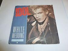 """BILLY IDOL - White Wedding - 1985 UK blue injection moulded 7"""" vinyl single"""