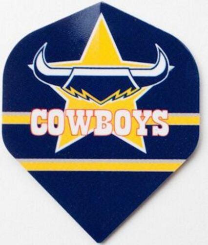 NRL Replacement Dart Flights Set Of 3 North Queensland Cowboys Darts