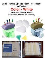 Dental Endo Triangle Sponge Foam Refill Inserts By Plasdent 48 Pcs White