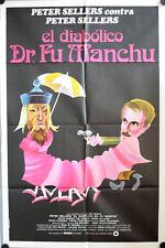 Das Boshafte Spiel des Dr. Fu Man Chu Filmposter ARGENTINIEN Fiendish Sellers