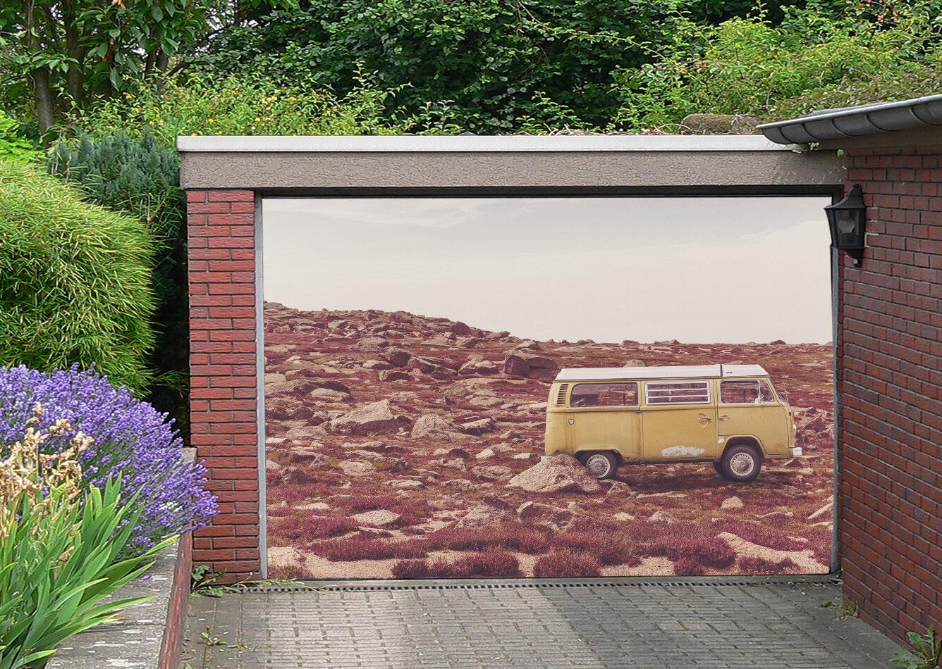3D Stones Bus 085 Garage Door Murals Wall Print Decal Wall Deco AJ WALLPAPER IE