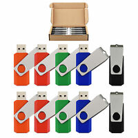 10 Pack 8gb Swivel Flash Memory Stick Rotating Usb Flash Drive Thumb Pen Drive