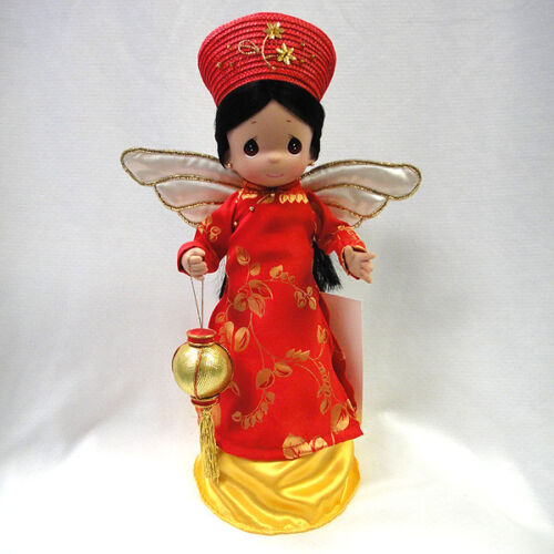 "Precious Moments Vietnamese Angel Tree Topper 12"" Huong from Vietnam"