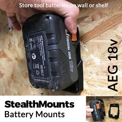 2x Stealth Mounts for Worx 20V Battery Mounts Holders Slot Van Wall Mount Holder