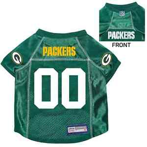 NEW-GREEN-BAY-PACKERS-PET-DOG-PREMIUM-NFL-JERSEY-w-NAME-TAG-ALL-SIZES
