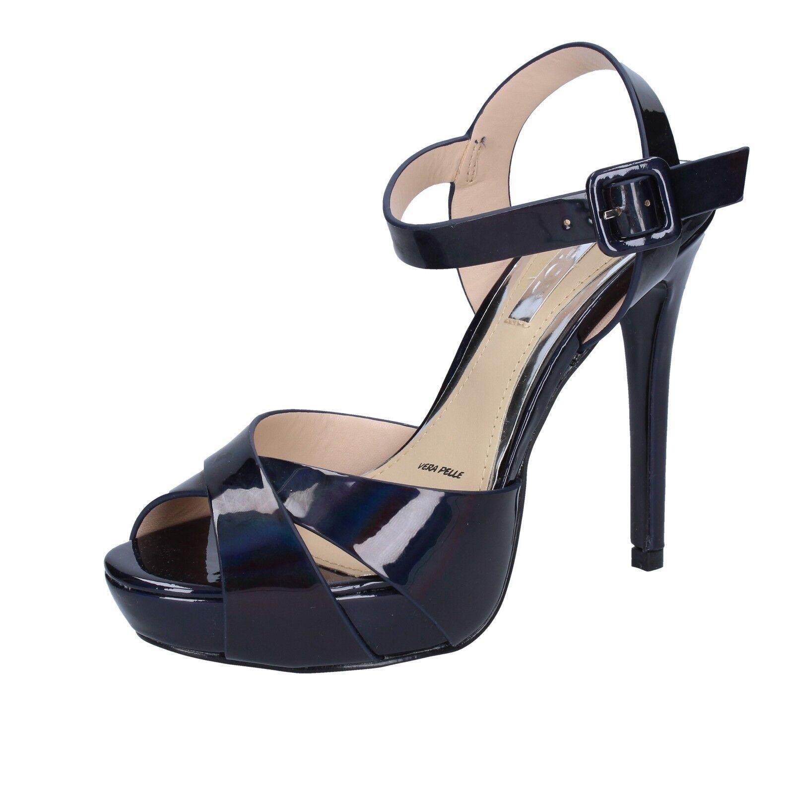 Damen schuhe IKAROS 36 EU sandalen blau lack BT756-36