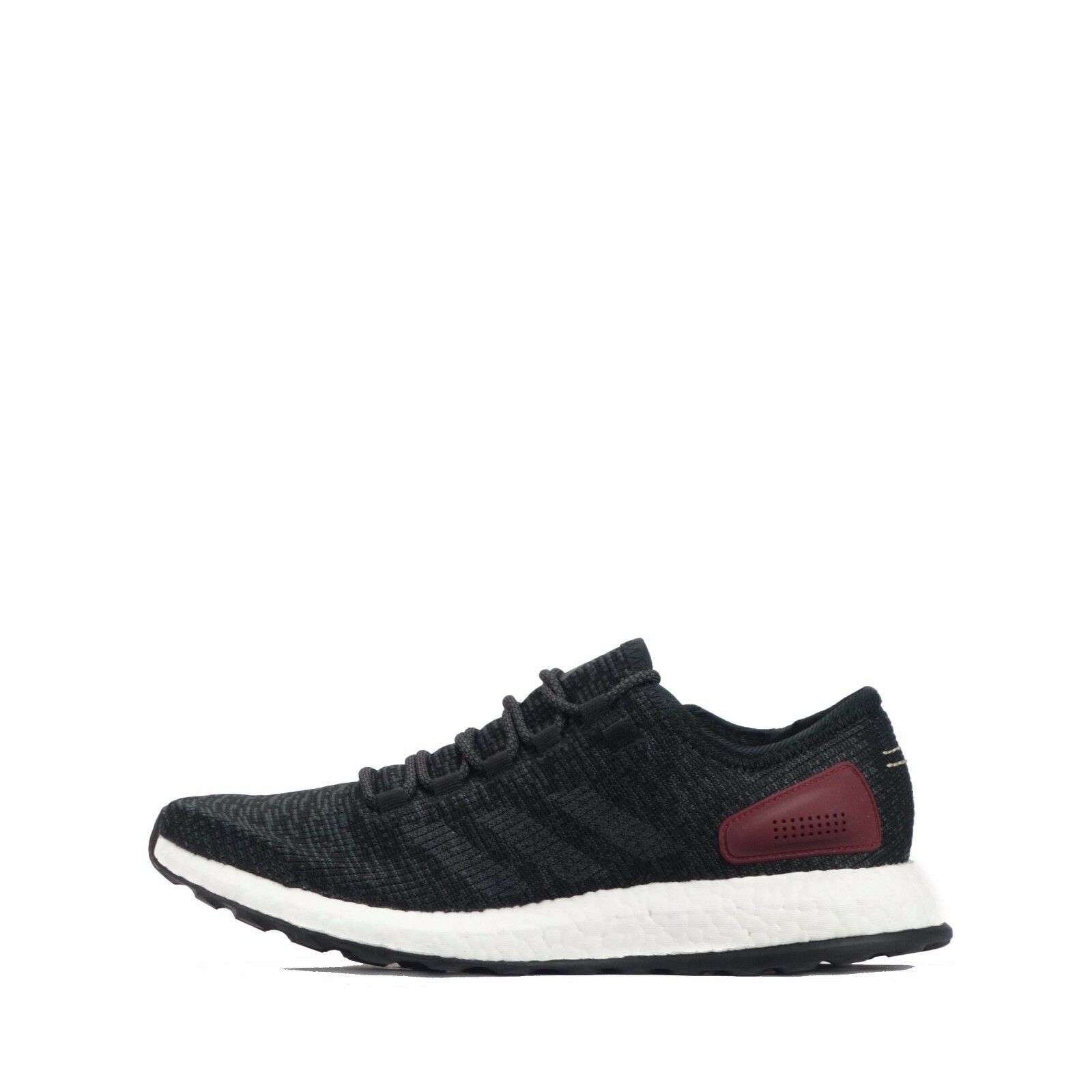 adidas Pure /Solid Boost Hommes Running Chaussures Core Noir /Solid Pure Gris bcdb15