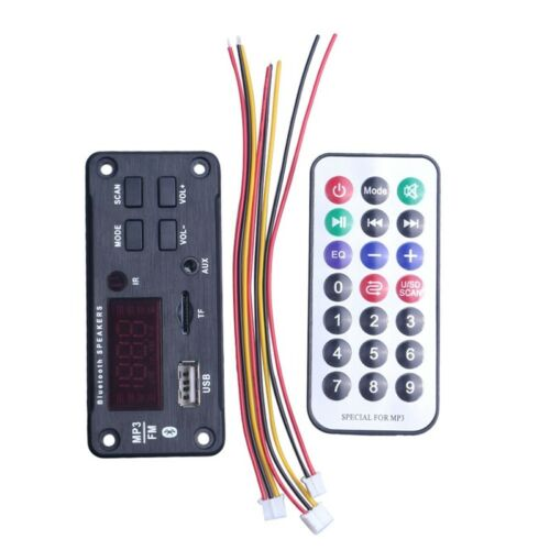 Sans Fil Bluetooth MP3 WMA Carte de DéCodeur TéLéCommande Lecteur 12V Modul F5I3