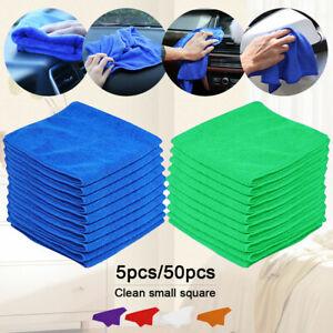 50× grands chiffons microfibre chiffon nettoyage voiture détaillant serviette LB