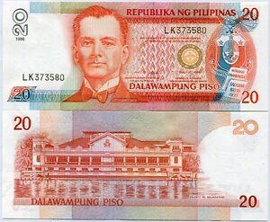 PHILIPPINES-20-PESOS-1998-P-182-c-UNC