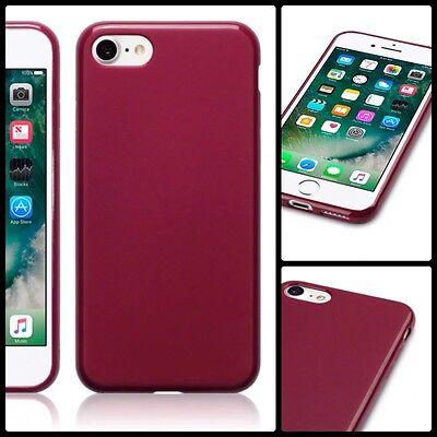 Analitico Apple Iphone 8 Custodia Cover Gel Flessibile Rosso & Proteggi Schermo Spedizione Gratuita-