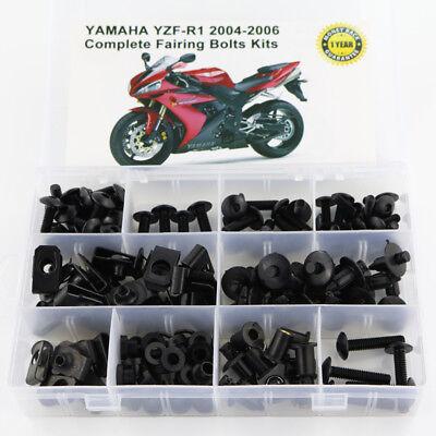 Screws Yamaha YZF-R1 04-06 Motorcycle Fairing Bolt Kit Fasteners R1 2004 2005 2006 Bolts