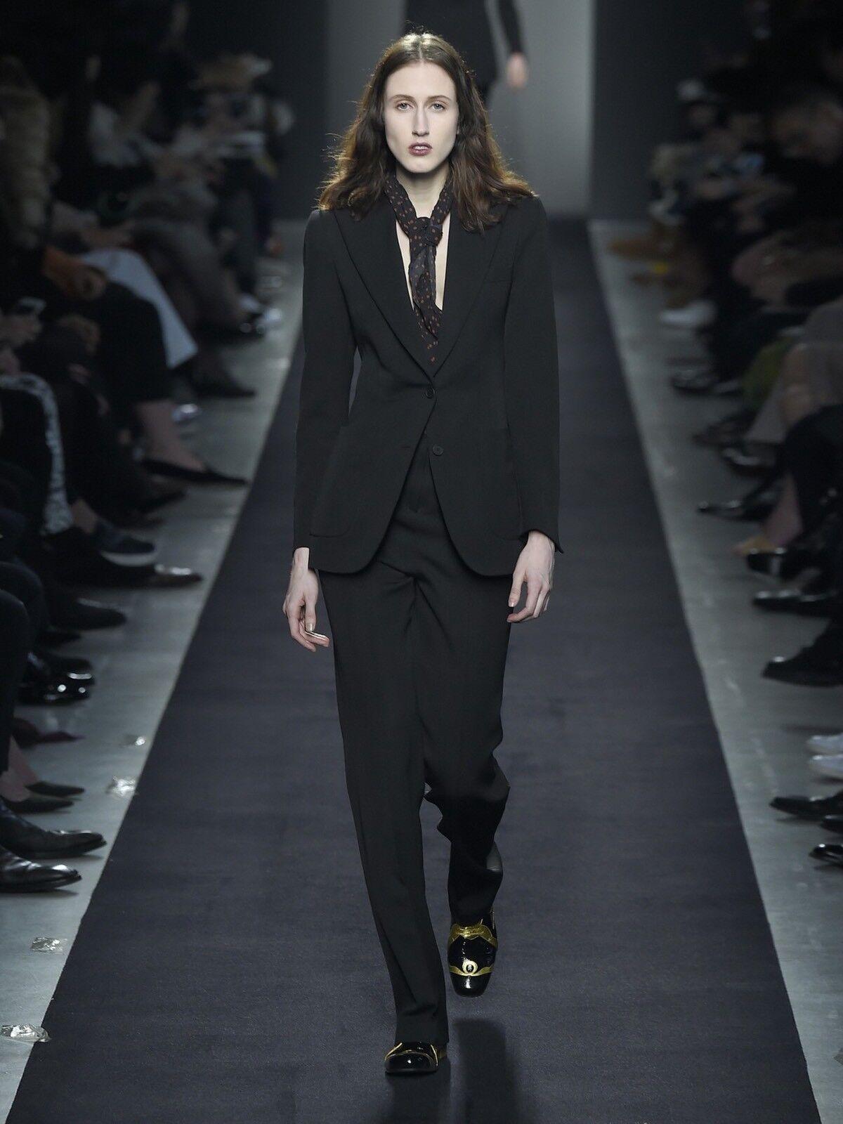 BOTTEGA VENETA  Designer New   Tags Charcoal Wool Trousers S.40 NEW