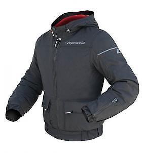 Large Mens Dririder Urban Hoodie Jacket Casual Look Ski or Motocycle Black Red