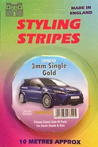 3mm Single Stripe Gold CPS01G Castle Promotions