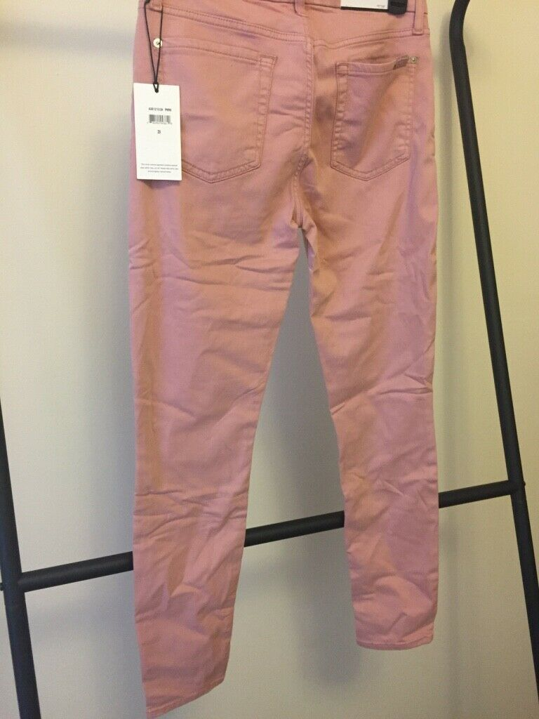 7 For All Mankind THE ANKLE SKINNY in pink size 29