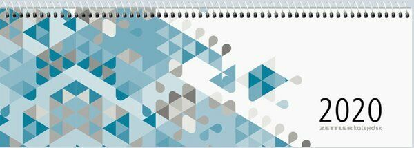 Zettler 176-0015 Querkalender 2021 32x11cm 1Woche 2Seiten Kalender NEU
