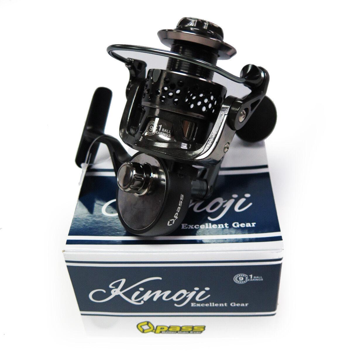 Opass kimoji 2500 Cocherete H Agujero cuerpo de metal agua dulce Spinning Pesca Bass Trucha