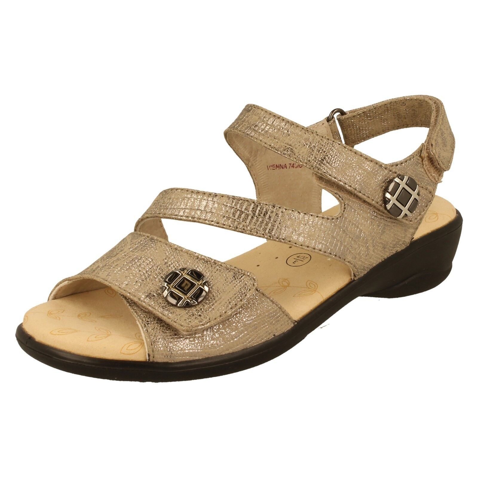 Damas Padders Wide Fit (e) Sandalias-Viena