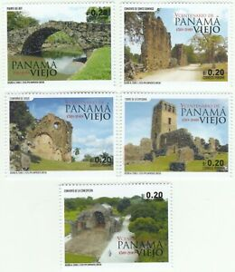 2019-Panama-Stamps-Old-Panama-Fifth-Centenary-Panama-Viejo