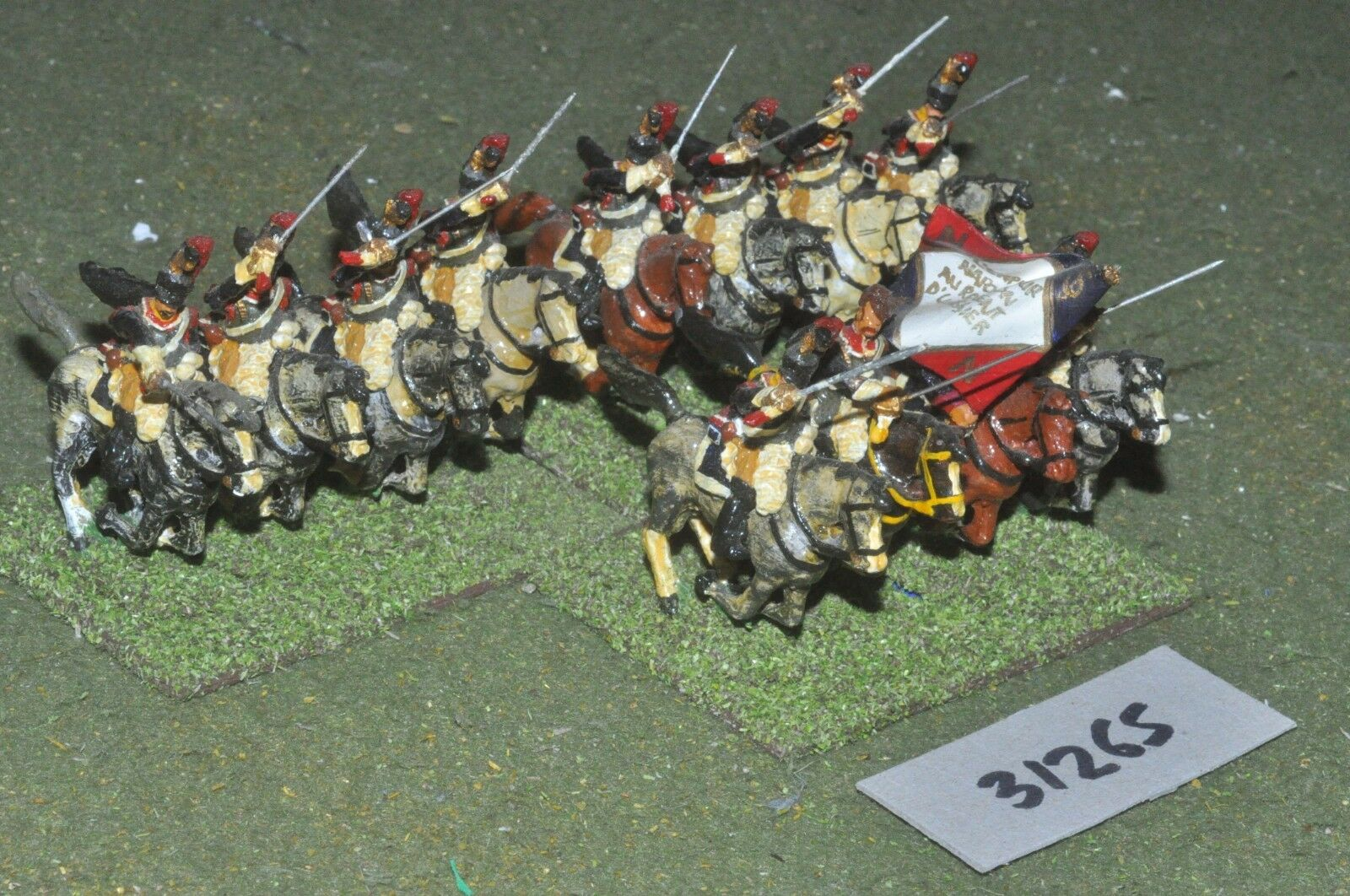 25mm napoleonic   french - cuirassiers 12 figures - cav (31265)